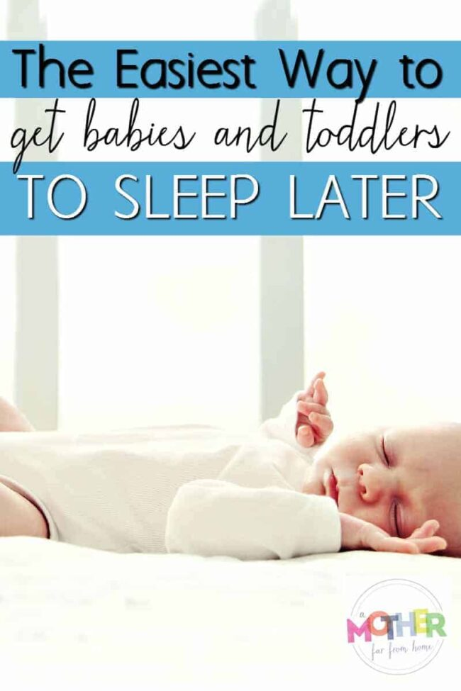 Do your babies or toddlers wake up early? This is an awesome and easy trick to get them to sleep in.