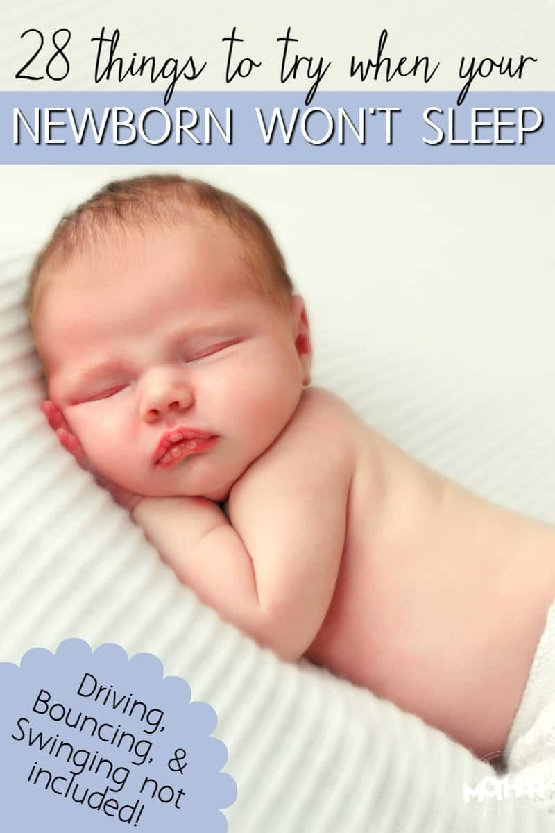 How to put a newborn baby to sleep fast