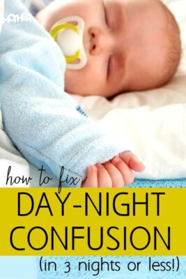 How to Fix Newborn Day Night Confusion in 3 Nights or Less. Baby has their days and nights mixed up? This will help.
