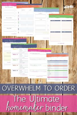 Overwhelm to order the ultimate homemaker binder pin