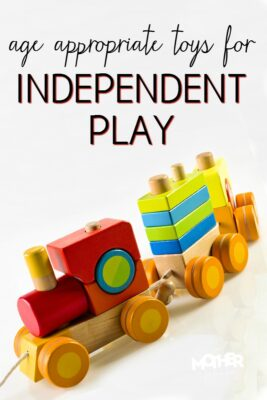 Age appropriate toys for babies, toddlers, preschoolers, and elementary aged kids for independent play. A mother's dream!