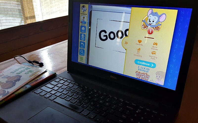 abc mouse on a computer