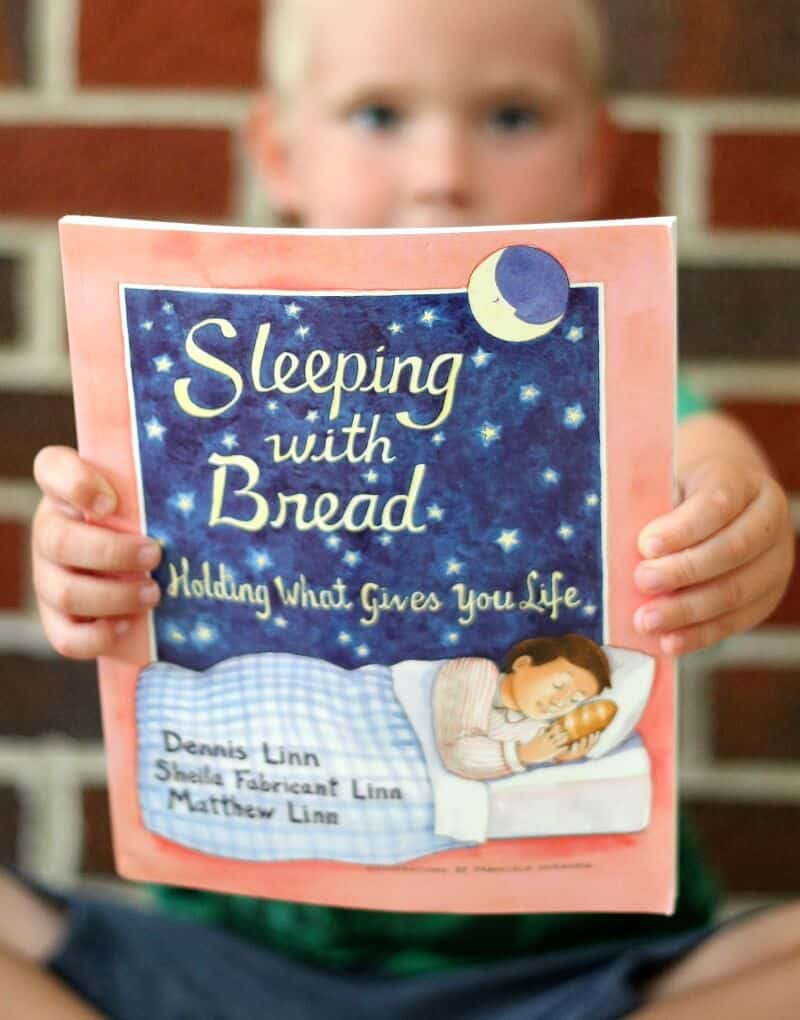 sleeping with bread image