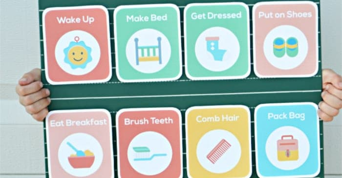 printable toddler routine cards
