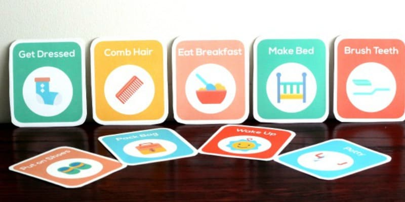 stay at home mom schedule and printable routine cards