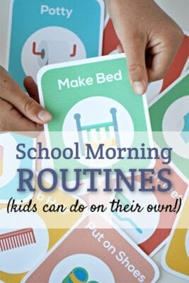 Here's a great school morning routine that is less stress for moms and kids.