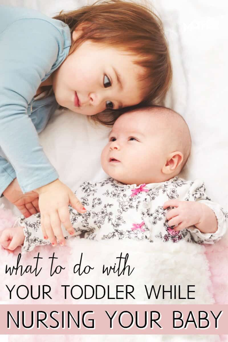 Do you have a baby and a toddler? It can be hard to entertain a toddler while nursing a baby but these tips will help you.