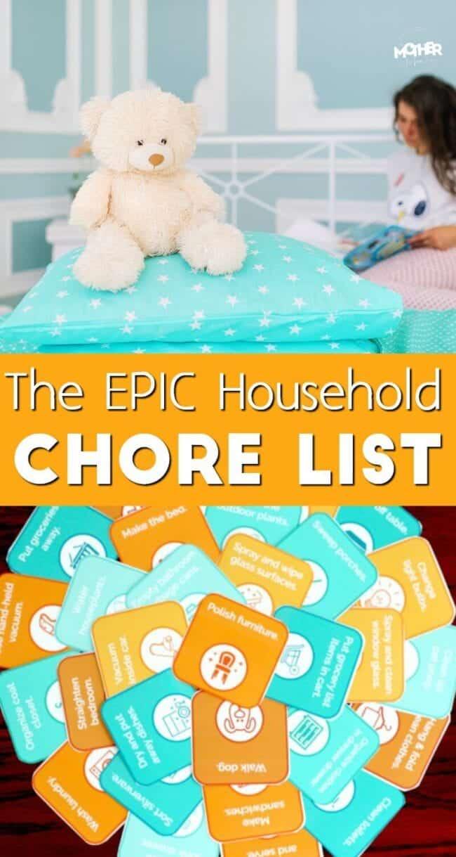 Epic household chore list for moms