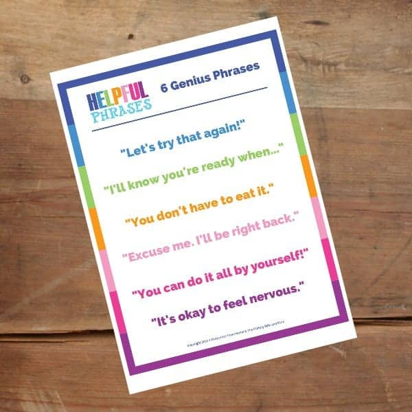 toddler behavior helpful phrases