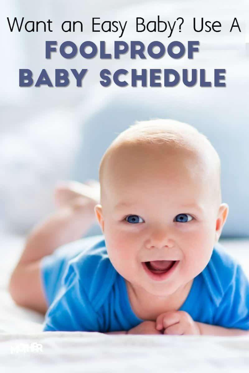 foolproof baby schedule for moms