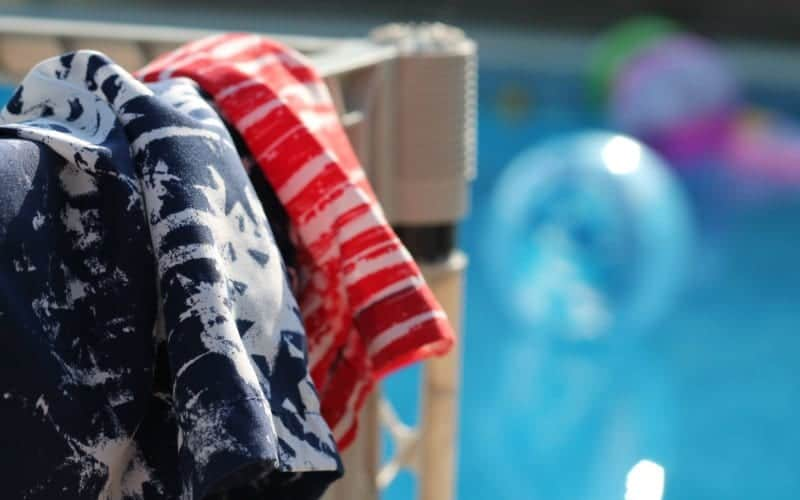 swimming clothes by the pool