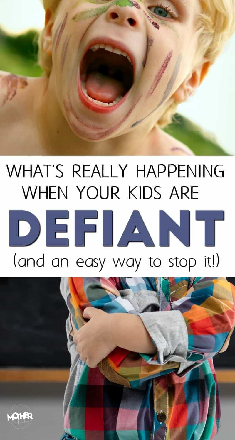 Do you have a child who acts defiant and you can't figure out what's happening? If your child is having discipline issues or being defiant, try this strategy.
