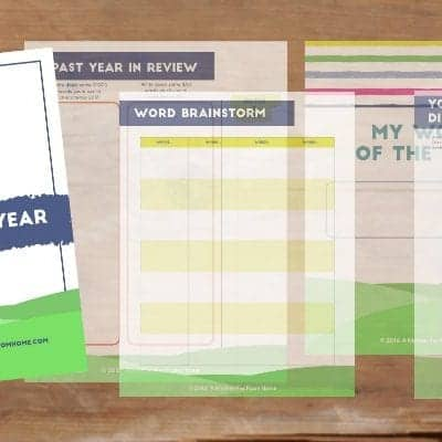 Choose Your Word Of The Year (Free Printable)