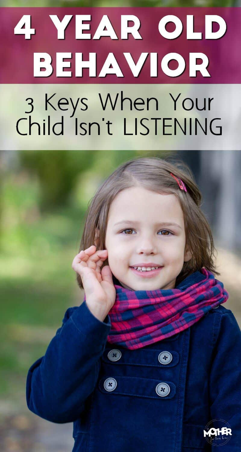 If your 4 year old's behavior shows he isn't listening, these tips will help turn your days around with your little one and create a connection that'll last through childhood.