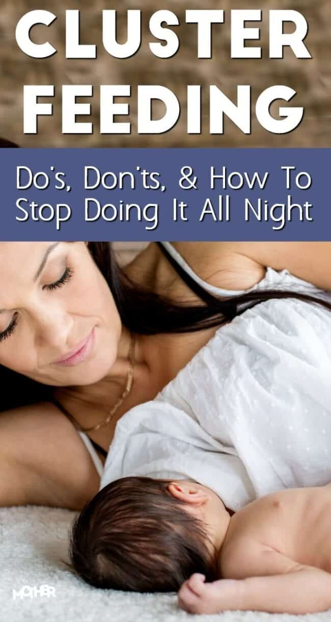 Are you busy cluster feeding a newborn? This will help you know what to do so you're not up all night feeding a baby every hour.