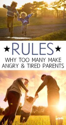 If you're unsure of whether you have too many parenting rules, this post will help you nail it down.