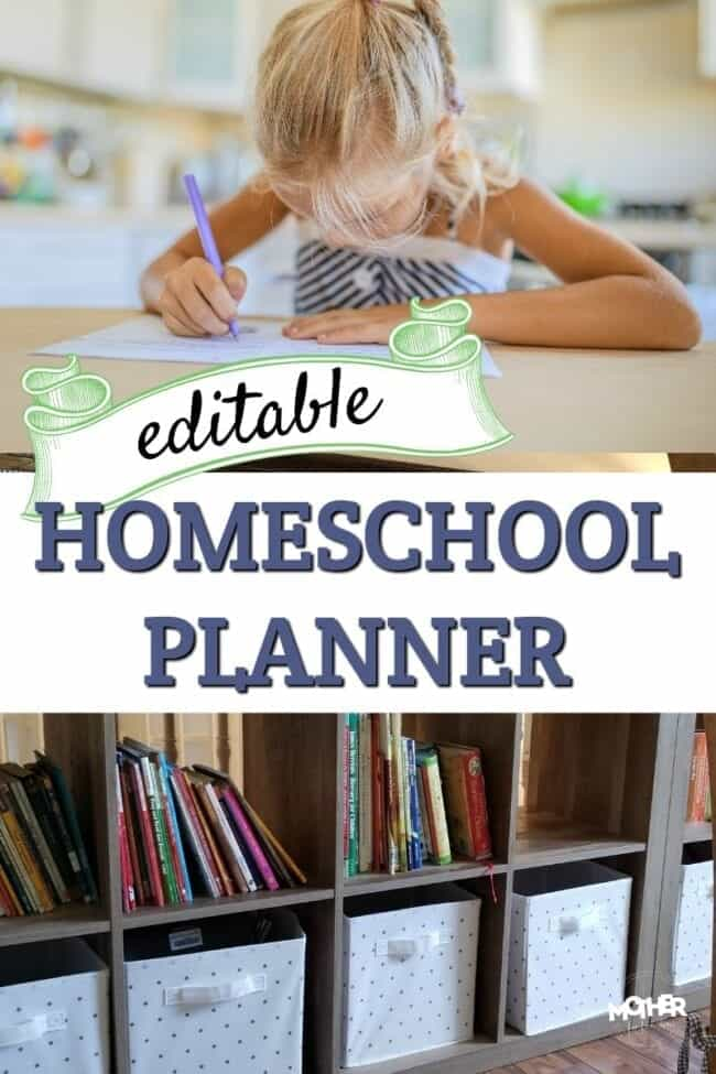 Edit, customize, and print out your own homeschool lesson planner using these files. You'll be more organized and have peace of mind.