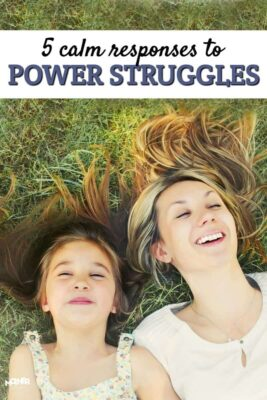 Power struggles are all too common in homes. Mothers are weary, kids are acting defiant, and it can be an all around stressful time. This post gives 5 calm responses.