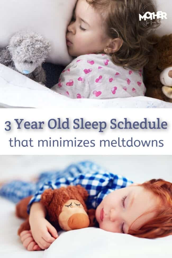 Here's a 3 year old sleep schedule that'll make the transition from toddler to preschooler bearable. It also makes for happy well-rested children.