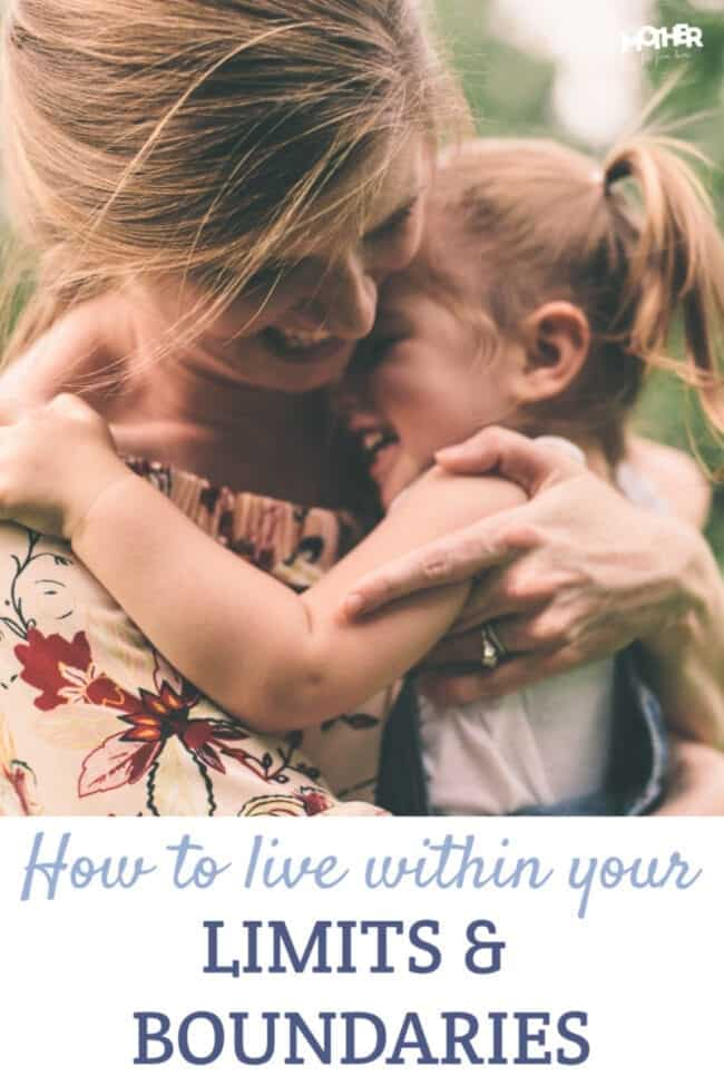Are you wondering how to actually live a life where you don't go over your limit and you are within your boundaries? This post will show you how.