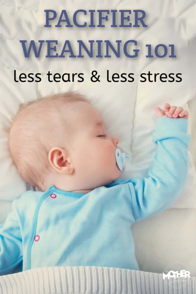 Ready to tackle pacifier weaning? Use these principles to have less crying for baby and mom. Baby doesn't have to cry and scream to make this happen.