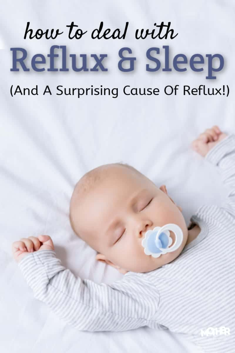 Did you know there's something else that could be causing reflux type symptoms that ISN'T reflux? Reflux babies have trouble sleeping, but these tips help.