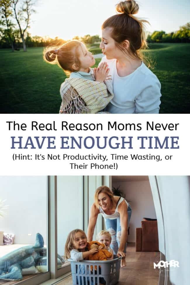 The real reason moms don't have enough time is NOT that they're wasting it or they are unproductive, it's because they've compartmentalized life.