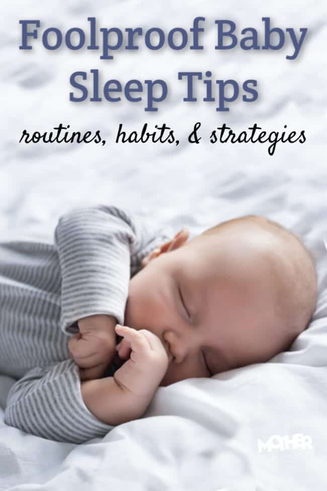 Baby sleep does NOT have to be complicated. With these routines, habits, and tips for helping exhausted babies, the whole house will be sleeping soon.