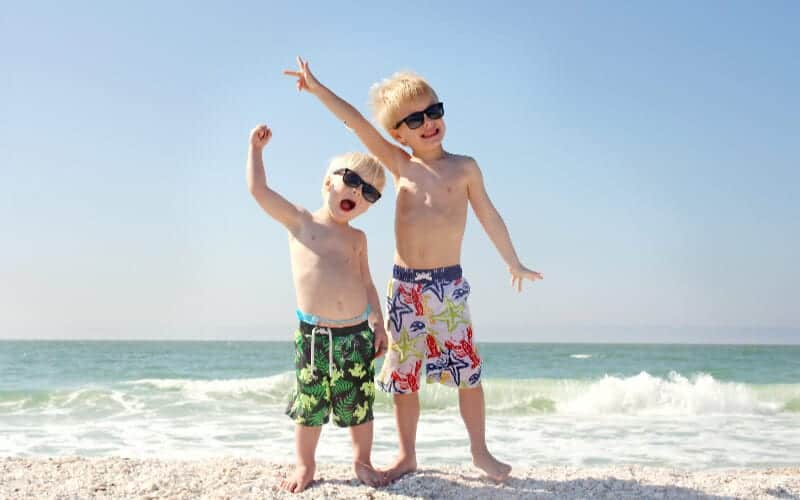 how to avoid oversharing kids information to keep them safe two boys at the beach