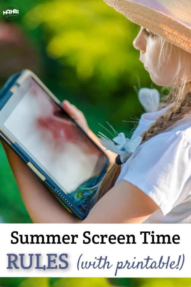 picture relating to Screen Time Rules Printable referred to as Stop Summer time Display screen Period Battles Within just 4 Measures (Printable