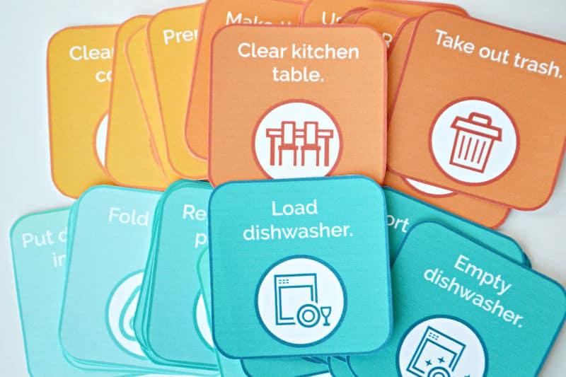 chore cards for mother's helper job description
