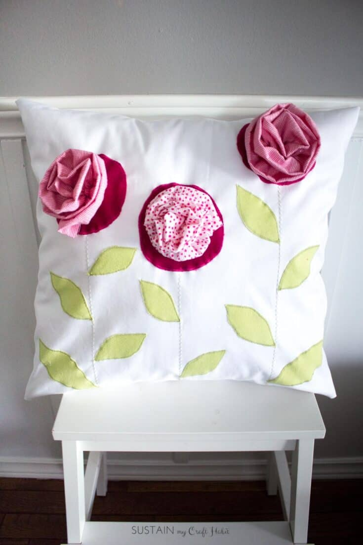 Remember Lil'Me Upcycled Throw Pillow