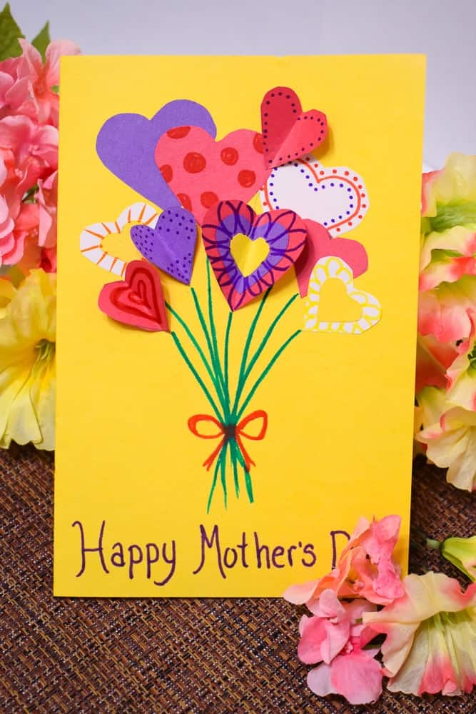DIY Flower Bouquet Mothers Day Card