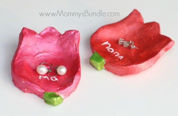 Handmade Flower Jewelry Dish for Mom