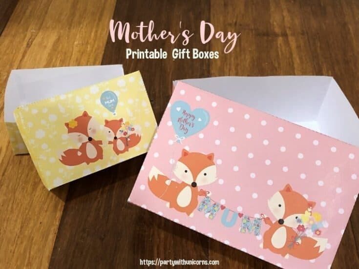 Printable Mother's Day Gift Box - Free Download