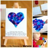 Fingerprint Heart Poem Keepsake
