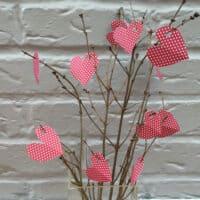 Paper love heart tree