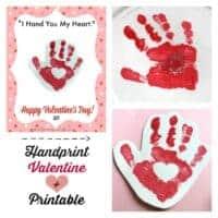 "Handprint Valentine + Printable: ""I Hand You My Heart"""