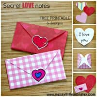 Tiny Folded Heart Envelopes